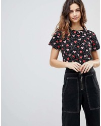 Asos T Shirt In Ditsy Heart Print