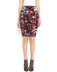 Printed pencil skirt medium 119230