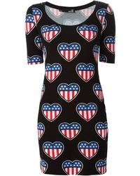 Love Moschino Heart Print Dress