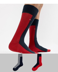 Tommy Hilfiger 2 Pack Half And Half Socks