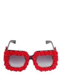 Dolce & Gabbana Roses Embellished Acetate Sunglasses