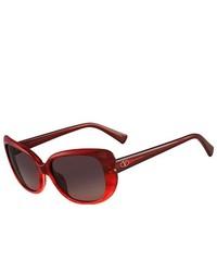 Valentino Sunglasses V644s 618 Striped Red 54mm
