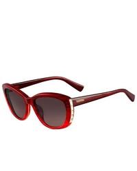 Valentino Sunglasses V649s 618 Striped Red 53mm