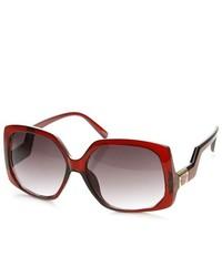 ZeroUV Oversized Low Temple Square Sunglasses