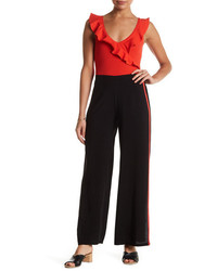 Know One Cares Slit Wide Leg Pants