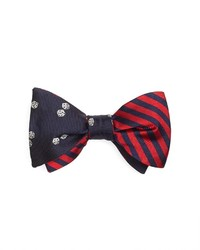 Brooks Brothers Dice With Bb5 Stripe Reversible Bow Tie