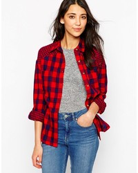 Influence Check Gingham Long Sleeve Shirt