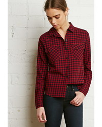 Forever 21 Gingham Plaid Shirt