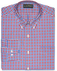 Non iron slim fit gingham dress shirt medium 125243