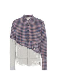Greg Lauren 5050 Plaid Flannel And Jersey Shirt