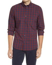 Nordstrom Men's Shop Nordstrom Tech  Fit Plaid Button Up Shirt