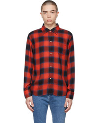 Remi Relief Red Blue Check Ombre Shirt