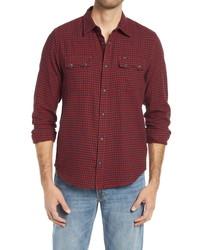 Lee Rider Plaid Flannel Button Up Shirt