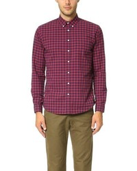 Schnaydermans Leisure Herringbone Medium Check Shirt