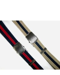 Ctm 15 inch premium striped cotton fabric belt by khakinavy one size medium 231433