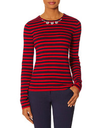 The Limited Embellished Stripe Sweater