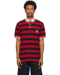 Gucci Red Navy Disney Edition Striped Donald Duck Polo