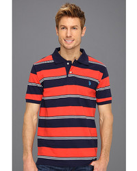 Yarn dyed striped pique polo medium 248423