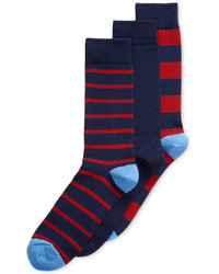 Sperry Top Sider New Stripes Crew Socks 3 Pack