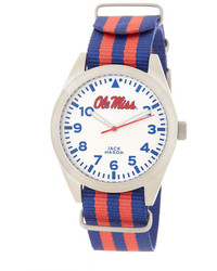 Jack Mason Brand Unisex Mississippi Rebels Nato Striped Strap Watch