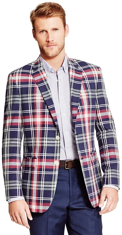 Tommy Hilfiger Plaid Sport Coat | Where to buy & how to wear