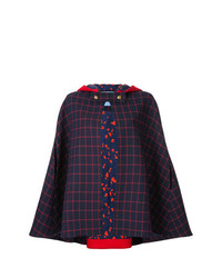 Macgraw Checked Cape Jacket
