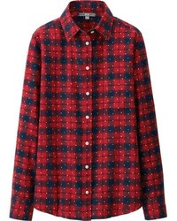 Uniqlo Flannel Print Long Sleeve Shirt