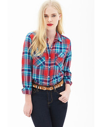 Forever 21 Pocket Plaid Shirt