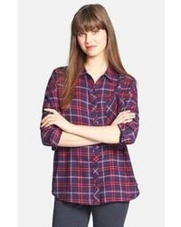 Olive Oak Plaid Cotton Flannel Shirt
