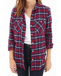 Forever 21 Tartan Plaid Cotton Shirt