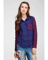 Forever 21 Windowpane Plaid Shirt