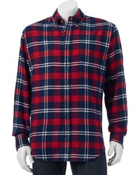 croft & barrow Classic Fit Plaid Flannel Button Down Shirt