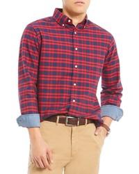 Daniel Cremieux Cremieux Plaid Oxford Long Sleeve Woven Shirt