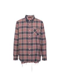 R13 Frayed Plaid Shirt