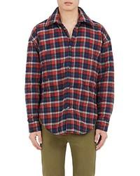 Balenciaga Plaid Cotton Flannel Shirt Jacket
