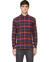 Markus Lupfer Red Plaid Flannel Shirt