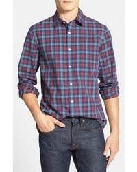 Nordstrom Trim Fit Plaid Cotton Sport Shirt