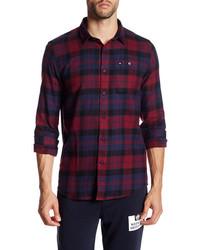 Weekend offender alphin long sleeve plaid shirt medium 899083