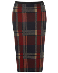 Blanket check tube skirt medium 170565