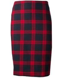 Harvey faircloth plaid pencil skirt medium 98352