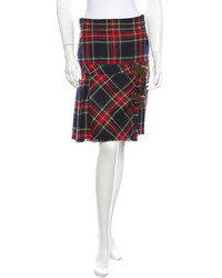 Wool plaid skirt medium 170564