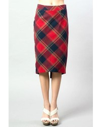 Esley red plaid skirt medium 375782