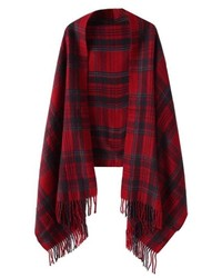 ChicNova Christmas Preppy Style Plaid Grain Scarf