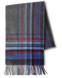 Merona Cold Weather Scarf Royal Blue Plaid Tm