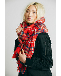 Free people sienna oversized plaid scarf medium 128054