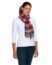 Joan Rivers Classics Collection Joan Rivers Plaid Scarf With Fringe