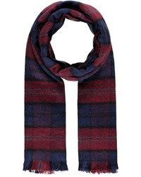 Forever 21 Plaid Frayed Scarf