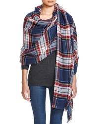 Aqua Plaid Scarf