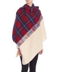 Standard Form Grunge Plaid Cashmere Wool Blanket Scarf
