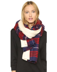 Standard Form Grunge Plaid Knit Scarf